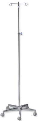 Aluminum Base 5-Legs IV Pole