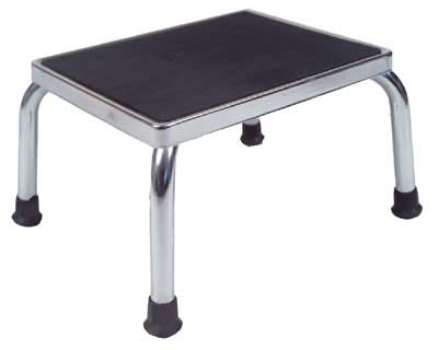 Chrome Plated Step Stool 9in High