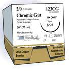 Chromic Gut Sutures for NC-3 or C-2 Reverse Cutting Needle