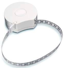 Circumference Measuring Tape w/ Waist-To-Hip Ratio
