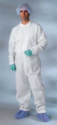 Classic Breathable Coveralls Large Elastic Wrist and Ankle