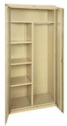 Classic Combination Cabinet w/ Adj. Shelves & Garment Rod