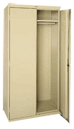 Classic Wardrobe Storage Cabinet w/ Garment Rod & Adj. Shelf