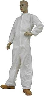 White Coated Polypropylene Coverall