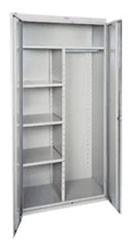 Combination Cabinet Adj Shelves  Garment Rack