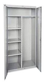Combination Cabinet Adj Shelves  Garment Rack