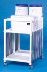 PVC Hydration Cart w/ Ice Chest & Water Coolers