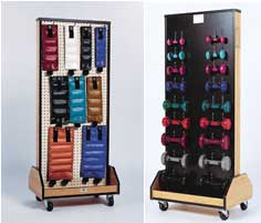 Accessorized Mobile Weight Rack
