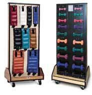 Combo Weights/Dumbbell Mobile Rack