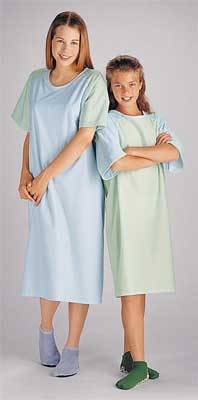 Teen Patient Gowns, Blue/Yellow