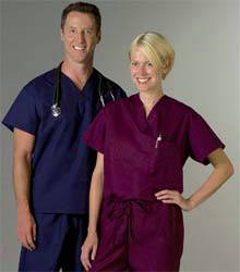 ComfortEase Unisex One Pocket Reversible Scrub Top