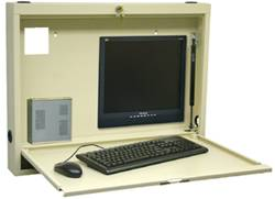 Compact Steel Wall Mounted Computer Desk
