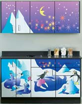 Cool Pads Themed Pediatric Exam Room Cabinet Set