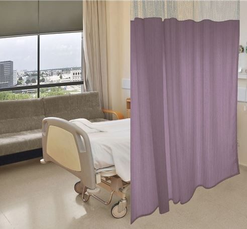 Cubicle Curtain Kit 84in x 36in for 9ft Ceilings