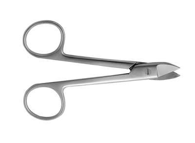 4.5in Curved Serrated Crown Scissors