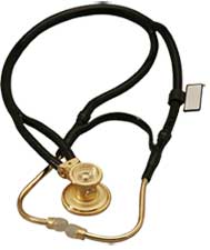 Deluxe 2 in 1 Tube 22K Gold Plated Sprague Rappaport Stethoscope