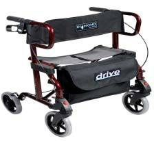 Deluxe Aluminum Rollator and Transport Chair