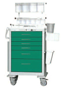 Deluxe Anesthesia Package for Aluminum Cart