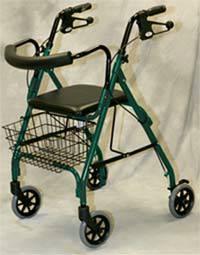 Deluxe Green Rollator