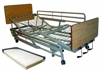 Deluxe Manual Adjustable Hospital Bed Full Length Rails