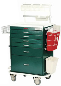 Deluxe Six Drawer Workstation Cart