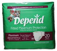 Depend Maximum Protection Brief with EasyGrip Tapes.