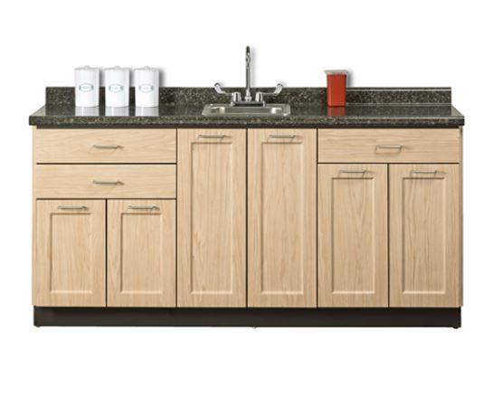 Designer 72in Base Cabinet 6 Doors, 3 Drawers, Postform