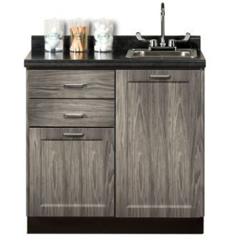 Designer Wood Grain 36in Base Cabinet with Postform Top