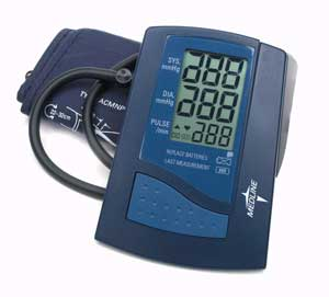 Digital Blood Pressure Units With Large Adult Cuff Automatic Inflation