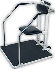 Digital Flip Seat Bariatric Chair Scale w/ Guard Rails