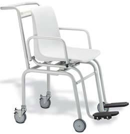 Digital Mobile Chair Scale w/ Four Wheels
