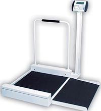 Digital Stationary Wheelchair Scale w/ Ramp