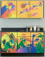 Dino Days Themed Pediatric Cabinet Set