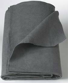 Disposable Gray Polyester Blanket 40in x 80in