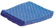 Disposable Rayon Blue Washcloths Blue 12in x 13in