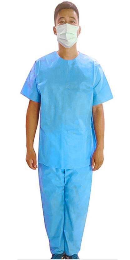 Disposable Scrub Tops Large, 30/case