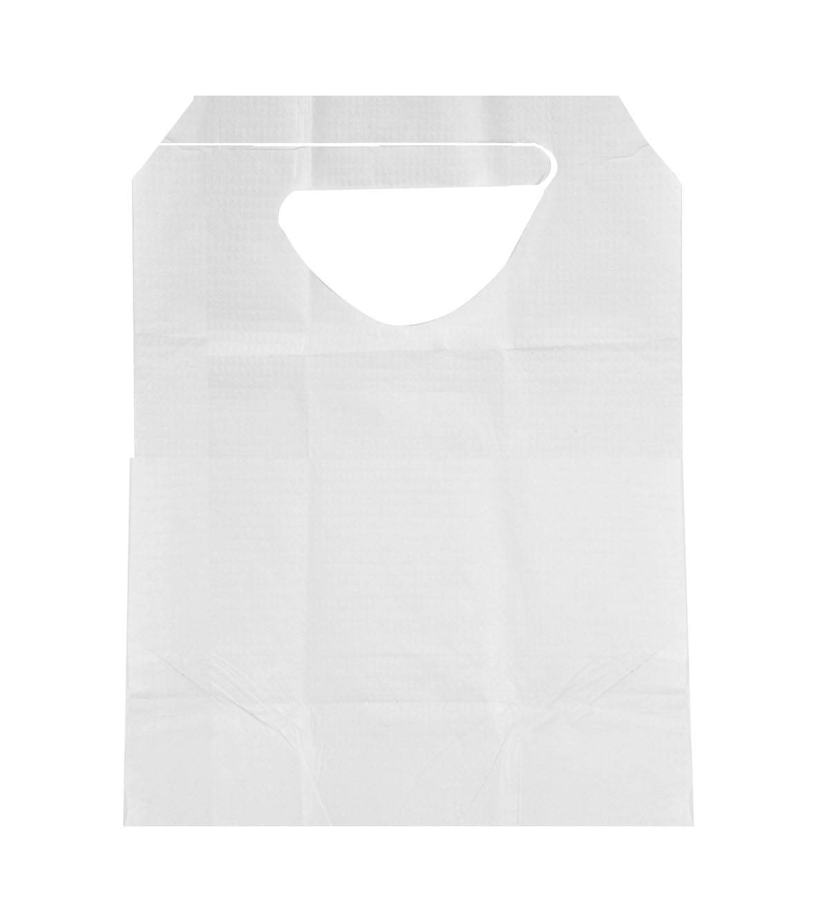 Disposable TissuePoly Bib With Ties