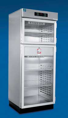 Double Glass Door Warming Cabinet