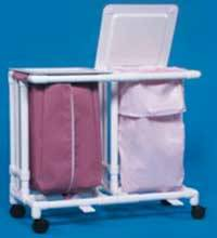 Large Capacity Mobile Double Linen Hamper w/ Foot Pedal