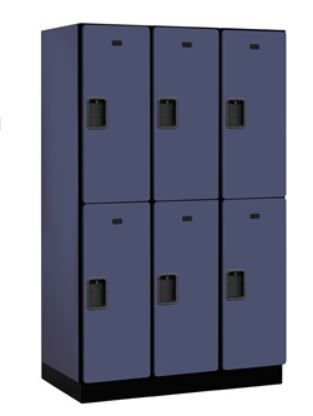 Double Tier Designer Wood Locker 21in Deep