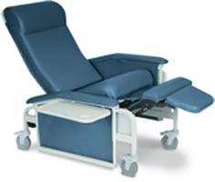 Drop-Arm Care Cliner