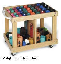 Wagon Cart for Rehab Dumbbells