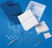 E.R.Sterile Laceration Tray with Lid
