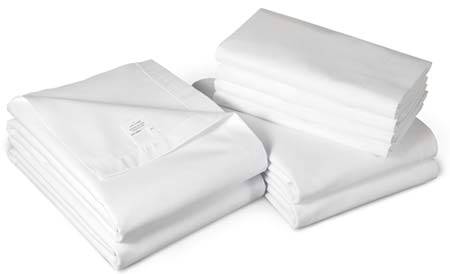 White Flat Bed Sheets 66in 115in