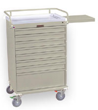 Economy Medication Box Carts w/ Key Lock