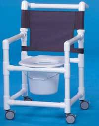 Economy Shower Chair Commode 41in High