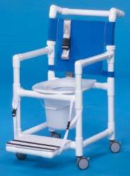 Economy Shower Chair Commode w/ Seat Belt