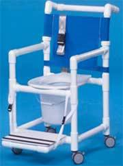 Shower Chair Commode 41in High w/ Seat Belt