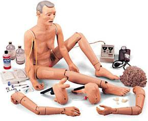 Elderly Patient Manikin Interchangeable Genitalia