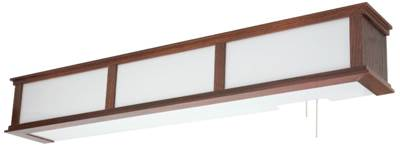 Elegant Fluorescent Wood Trim Hospital Overbed Light